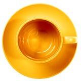 желтый цвет чашки Стоковое Фото