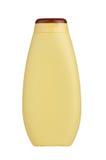 желтый цвет шампуня бутылки Стоковое Изображение RF