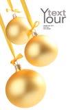 желтый цвет шариков предпосылки стеклянный хороший Стоковое Фото