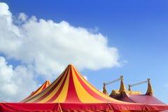 желтый цвет шатра померанцовой картины цирка красный обнажанный Стоковые Фотографии RF