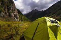 желтый цвет шатра Стоковая Фотография RF
