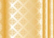 желтый цвет шелка Стоковые Изображения