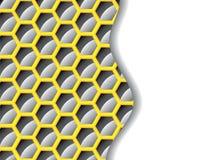желтый цвет шестиугольника предпосылки черный Стоковые Изображения