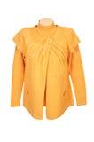 желтый цвет шикарной туники свитера белый Стоковые Фотографии RF