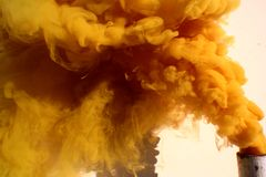 желтый цвет шлейфа Стоковая Фотография