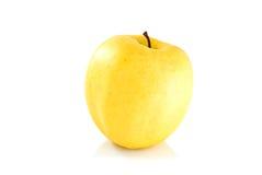 желтый цвет яблока одиночный Стоковая Фотография