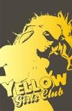 желтый цвет девушок клуба Стоковая Фотография