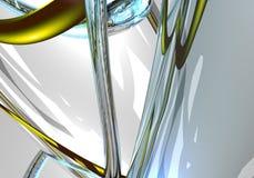 желтый цвет 01 голубой провода Стоковое Изображение