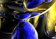 желтый цвет 01 голубой пузыря Стоковое Изображение