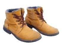 желтый цвет 2 ботинок Стоковое Изображение