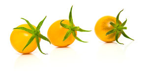 желтый цвет 2 совершенный томатов стоковая фотография rf