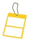желтый цвет 3 ценников Стоковые Фото