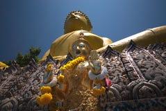желтый цвет 4 большой Будда Стоковые Изображения