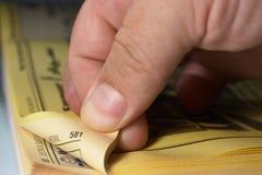 желтый цвет 5 страниц Стоковые Фотографии RF