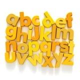 желтый цвет abc Стоковая Фотография