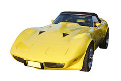 желтый цвет corvette Стоковое Изображение