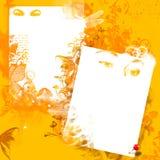 желтый цвет grunge предпосылки Стоковое Изображение RF