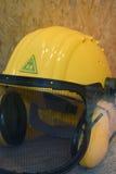 желтый цвет hardhat Стоковая Фотография