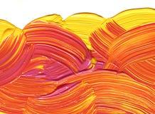 желтый цвет impasto красный Стоковые Фото
