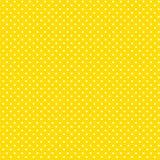 желтый цвет polkadots предпосылки малый белый Стоковое Изображение RF