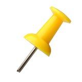 желтый цвет pushpin Стоковое фото RF