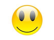 желтый цвет smilie Стоковые Фотографии RF