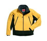 желтый цвет softshell куртки Стоковое Изображение RF