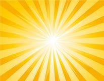 желтый цвет sunburst предпосылки иллюстрация штока