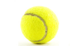 желтый цвет tennisball Стоковое Фото
