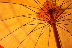 желтый цвет umberlla Стоковое Изображение RF