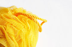 желтый цвет washcloth стоковые фотографии rf
