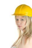 Желтый шлем здания Стоковое Фото