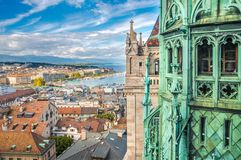 Женева от высоты собора St Pierre, Швейцарии Стоковая Фотография RF