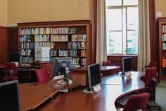ЖЕНЕВА, ШВЕЙЦАРИЯ - 15-ое сентября - библиотека Организации Объединенных Наций Стоковая Фотография