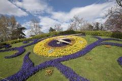 Женева, Швейцария, часы цветка Стоковые Изображения RF