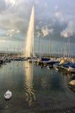 Женева, Швейцария - d'Eau двигателя Стоковое фото RF