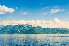 Женевское озеро, Во Стоковая Фотография RF