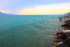 Женевское озеро стоковое изображение rf