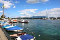 Женевское озеро стоковое фото rf