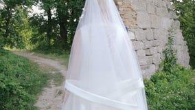 Жених и невеста в влюбленности на природе сток-видео