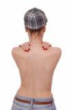 Женская задняя часть обнажённой фигуры Стоковые Изображения