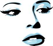 женская икона Стоковые Фотографии RF