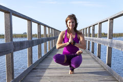 Женская йога Стоковая Фотография