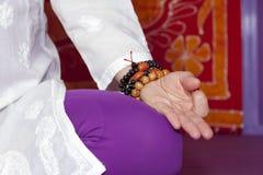 Женская йога Стоковое Изображение