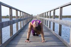 Женская йога Стоковые Фото