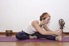 Женская йога Стоковая Фотография RF