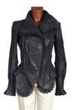 Женская кожаная куртка Стоковая Фотография