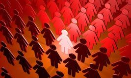 Женская команда (символические диаграммы людей) Стоковое Фото