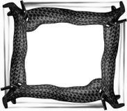 Женская концепция красоты классические черные ботинки и gemetry шнурок t Стоковые Изображения