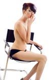 женская курильщица Стоковое Изображение RF